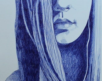 Hand drawn Ball Pen Portrait From Your Picture