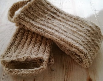 Handmade 100% Wool Leg Warmers