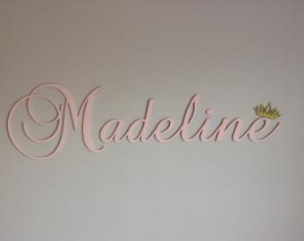 Nursery Letters, hanging nursery letters, pink nursery letters, script letter, girl letters, girl nursery/ room decor, custom wall letters