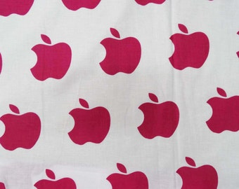 Dressmaking 100% Cotton Apple Print Fabric 45 Inch Wide Fabrics Apparel Fabric  Crafting Material By 1 Yard ZBC5037