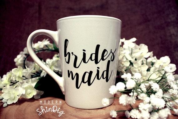 Engraved Wedding Coffee Mugs : Bridesmaid Engraved Ceramic Mugs Personalized Mugs Engraved