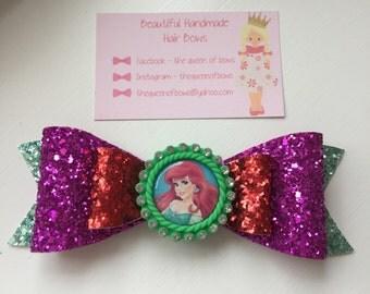 Disney Princess Ariel hair bow