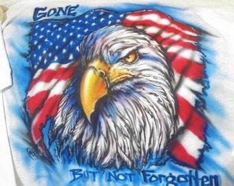Bald Eagle shirt, Gone but not Forgotten, Bird t shirt, bird art, birthday gifts, airbrush art