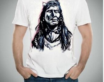 Native American T-shirt,  airbrush t shirt, Native American shirt, custom tees, Native American pillowcases, gift for him,