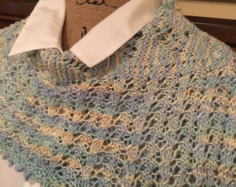 Year round hand knitted shawl/scarf