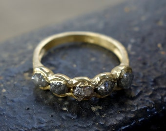 Rough diamond ring Etsy