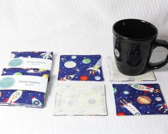 Space Explorer - Set of 4 coasters