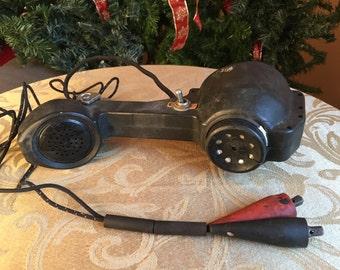 Vintage Lineman Test Set Telephone