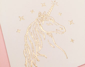 Envelopes | Unicorn Envelopes | Set of 10 | Gold Embossing