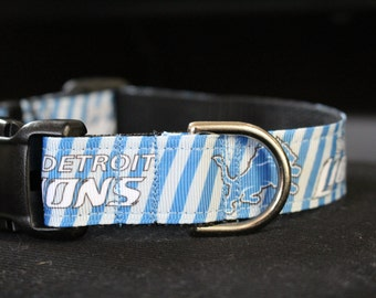 "Detroit Lions Dog Collar - Side Release Buckle (1"" Width)"