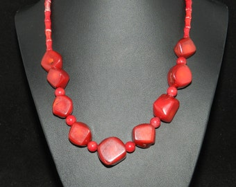FT602 Red Coral Necklace