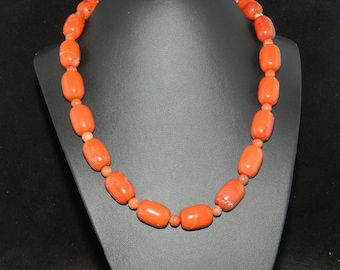 CLEARANCE*  Red Jasper Beaded Necklace