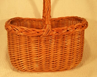 Wicker shopping basket 027