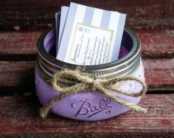 Mason Jar Business Card Holder, Custom Colors, Rustic, Office Decor, Office  Accessories
