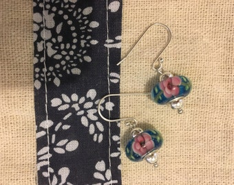 Ethnic Floral Print Earrings