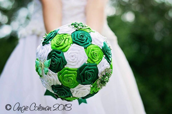 Custom Made Brooch Wedding Bouquet You Choose The Colors