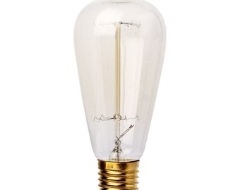 "Lot 2 bulbs filament ""vintage"" 25w ST64"