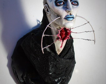 Female Cenobite - faux taxidermy horror sculpture from the movie Hellraiser