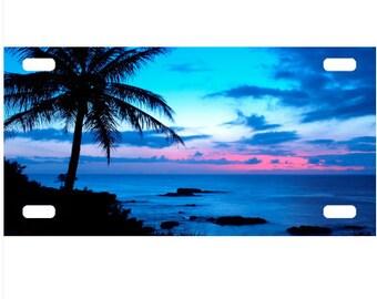 Blue Beach License Plate