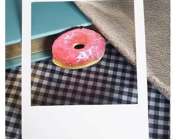 Pink Iced Doughnut Brooch/Badge