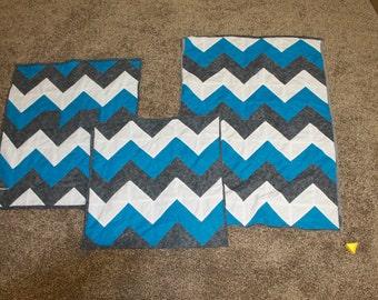Chevron Baby Blanket Gift Set