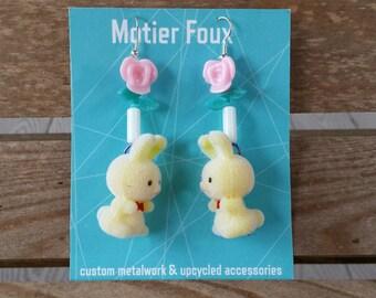 Fuzzy Bunnies Earrings