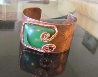 Hammered Copper Cuff
