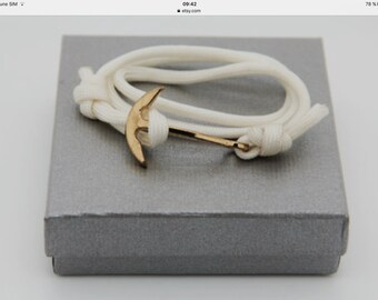 bracelet homme ancre sur paracorde