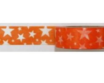 Washi Tape #282: orange and white stars