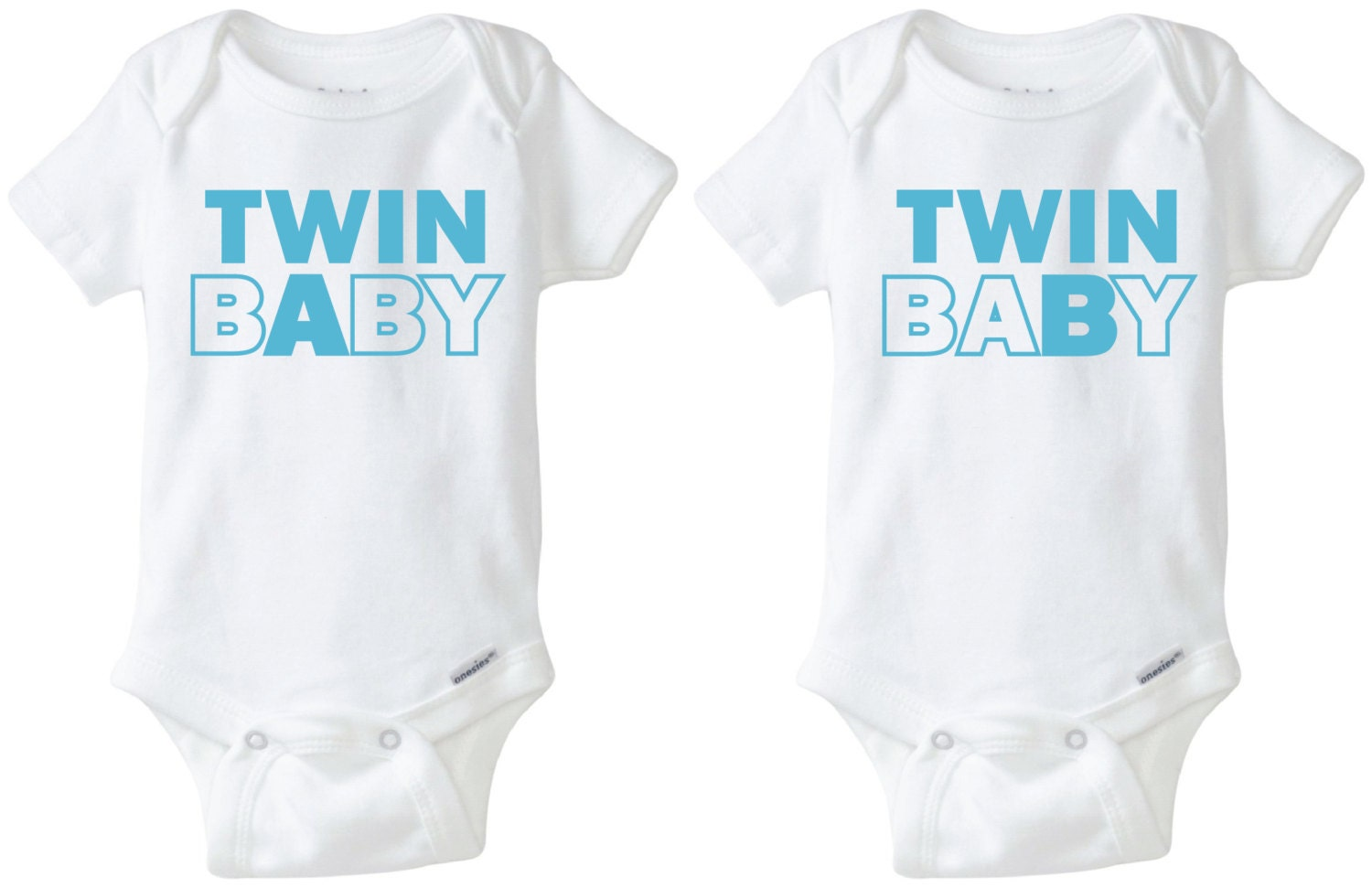 Twin Baby Paired Onesie Design SVG DXF Vector files for use