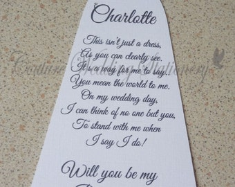Will You Be My Bridesmaid? DL Card