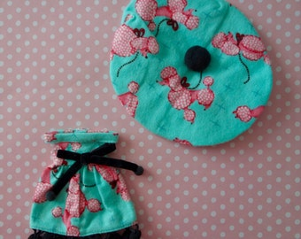 Parisian Pink Poodle Dress Set * Blythe * Pullip *