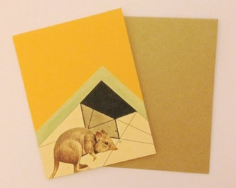 Rodent Geometry Greeting Card!