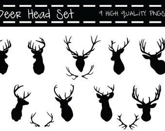 Deer head Clipart, deer head clip art, clipart deer head, clip art deer head, deer antler clipart, deer antler clip art, deer antlers