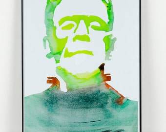 Frankenstein Art: Right in the Bolts