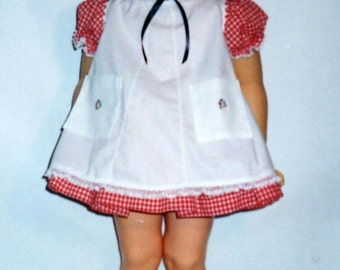 SALE!!! Patti Playpal RED CHECKED dress and Pinafore for Patti Playpal by Ideal, Madame Alexander Joanie, Janie, 36 inch companion dolls