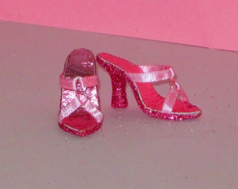 Tyler/Gene PINK GLAMOUR SANDALS for Tyler Wentworth, Gene Marshall, Madra, Marley, friends, 16 inch high heel fashion doll shoes