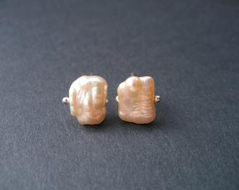 Fresh Water Pearl Ivory Studs