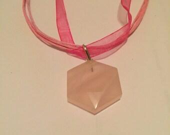 Fancy Shape Rose Quartz Pendant