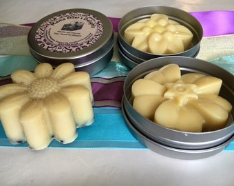 Floral-Scented All Natural Solid Lotion Bar