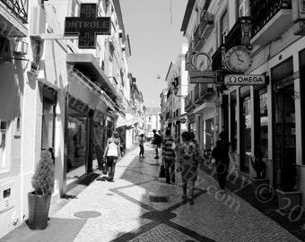 Portuguese Alley Black & White || PHYSICAL PRINT