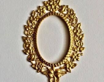 Brass oval frame