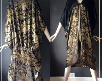 original 1920s lame cocoon coat