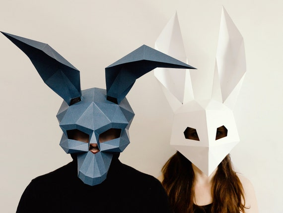 Make your own donnie darko mask low poly rabbit by for Make your own halloween mask online