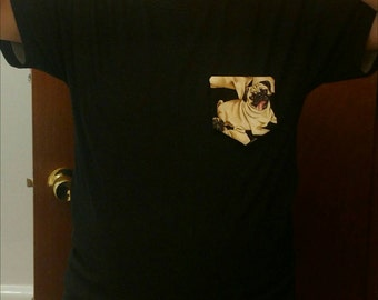 Pug Dog Pocket Shirt