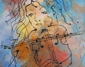 Painting violonist