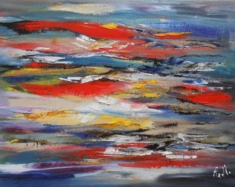 """Painting """"Reflections on the salt lake"""""""