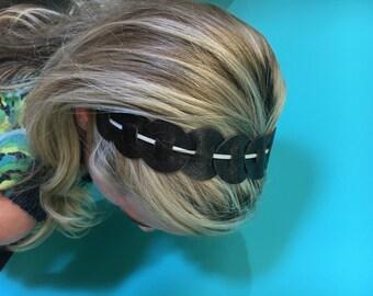 Leather Headband - Brown