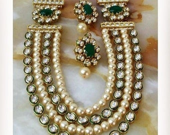 Kundan necklace set, wedding jewelry, Indian jewelry, Indian wedding jewelry, kundan jewelry