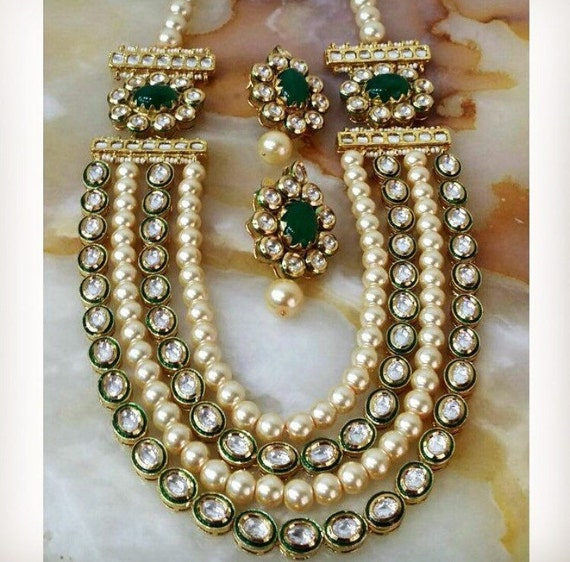 Indian Jewellery And Clothing Polki Necklace Sets From: Kundan Necklace Set Wedding Jewelry Indian Jewelry Indian